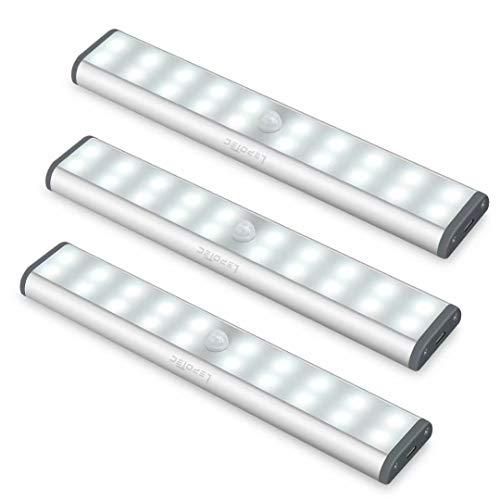LED Under Cabinet Lighting,Closet Lights Motion Sensor Light Rechargeable Under Cabinet Lights Wireless 20 LED Kitchen…