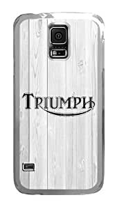 Samsung Galaxy S5 Case, Wood Triumph White Clear Plastic Hard Snap on Protective Case Back Cover for Samsung Galaxy S5 I9600