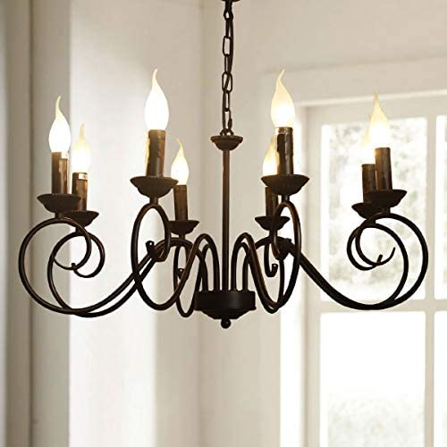 Jaycomey Vintage Chandelier Lighting,Iron Hanging Lighting Fixtures,French Country Chandelier