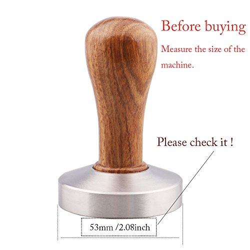 Omgogo Stainless Steel Coffee Tamper 53mm Barista Espresso Base Coffee Bean Press by omgogo (Image #1)