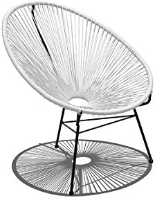 Harmonia Living Acapulco Lounge Chair, White Lightning