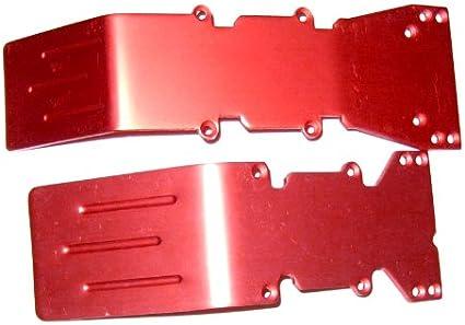 T-Maxx or E-Maxx Red Anodized Skid Plate and Bumper Dea
