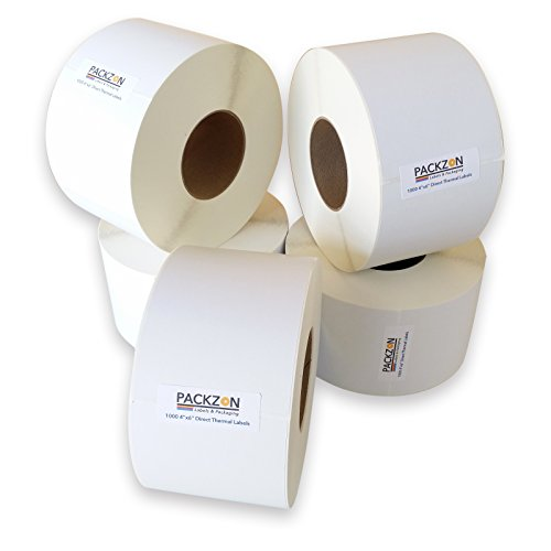"PACKZON 4x6 Direct Thermal Shipping Labels Zebra 2844 Elton 1000 per Roll (3"" Core 1 Roll)"