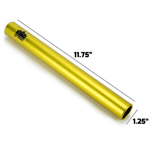 Crown Sporting Goods Standard Junior-Size Aluminum Track & Field Relay Batons-Set of 8 Assorted Colors