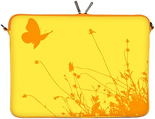 Digittrade Macbooktasche 13 Zoll Neopren Laptop Sleeve 13 3 Schutz Hülle Apple Macbook Pro Air Ultrabook Case bis 33,8 cm (13,3 Zoll) Summer LS114-13