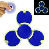 Fidget Spinner Toy,Glow In The Dark,Yeonha Toys New Design(Blue) For Stress Reducer Helps Focus Relieve ADD ADHD ANXIETY Adult Children Kid, Quiet and Stable Last for 2-3 min Spin Time!