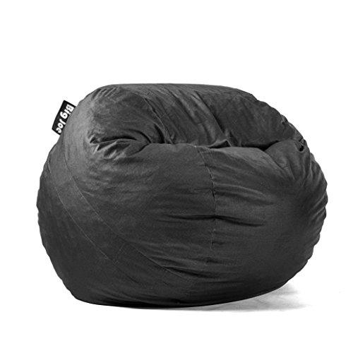 Big Joe Lenox Fuf Foam Filled Bean Bag, Medium, Black