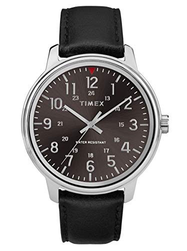 Timex Mens Analogue Classic Quartz Watch with Leather Strap TW2R85500