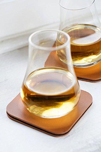 Sagaform 5017622 Whiskey Tasting, Set of 2 Glasses with Coasters, 5 oz, Clear by Sagaform (Image #2)