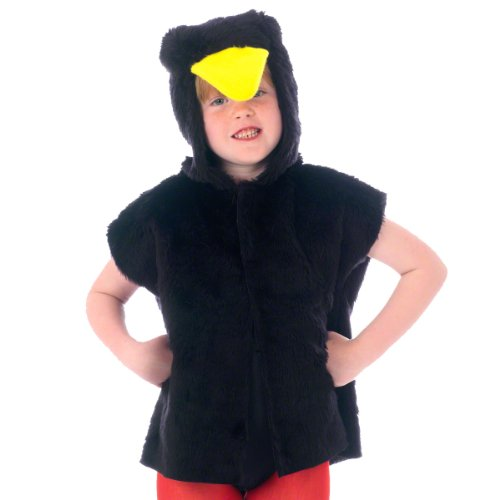 Blackbird/Crow Costume for kids. One Size 3-9 Years. -