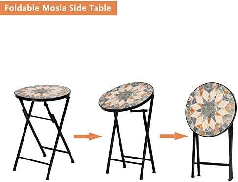 VINGLI Mosaic Outdoor Side Table
