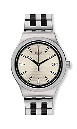 59b35cb23d0a8 Montre Swatch Sistem 51 Irony YIS424G SISTEM SILVERLINE: Amazon.fr ...