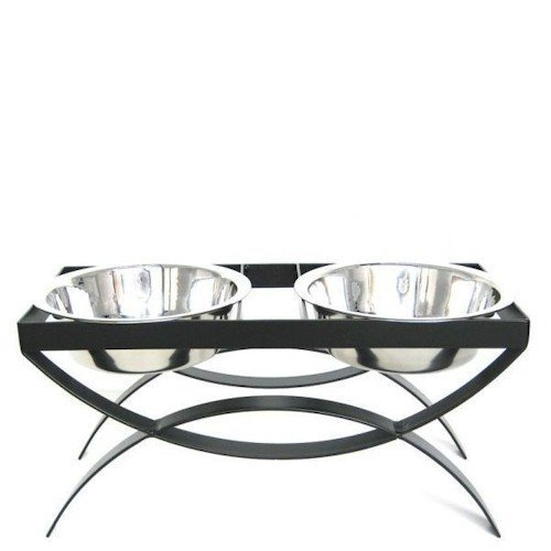 Seesaw Double Bowl Elevated Diner - 10'' - Raised Feeder