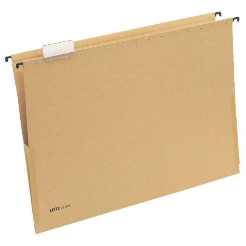 - Leitz Alpha 19760000 Suspension File A3 Side Clamps Cardboard Natural Brown