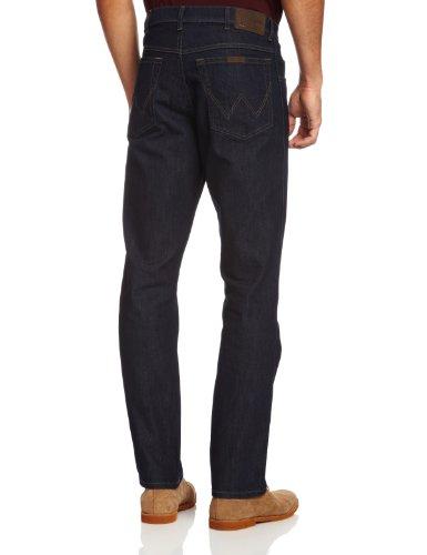para Hombre Azul Rinsewash Wrangler Fit Str Rinsewash Regular Pantalones Zn7n6qXTv
