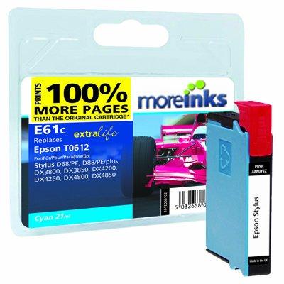 Moreinks-Cartucho de tinta para impresora Epson Stylus D68-cian ...