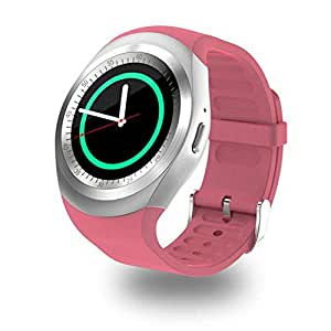 Y1 Bluetooth Smart Watch Touch Screen Support Micro SIM Card for Android PINK