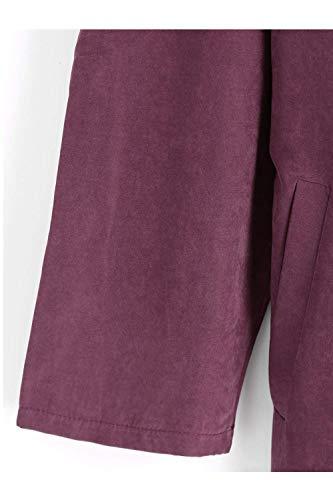 Giacca Windbreaker Estilo Primaverile Donna Casuali Outerwear Wined Lunga Baggy Colore Eleganti lannister Trench Especial Manica Puro Autunno Qk Bavero Cappotto a4q5wO