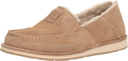 Ariat - Womens Cruiser Fleece Casual Western Shoes, Size: 7.5 B(M) US, Color: Light Tan Suede