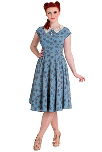 Hell-Bunny-60s-Vintage-Style-Blue-Vintage-Bicycle-Penny-Lover-Tea-Party-Dress