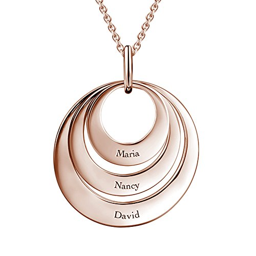 SOUFEEL 925 Sterling Silver Necklace Personalized Name Plate