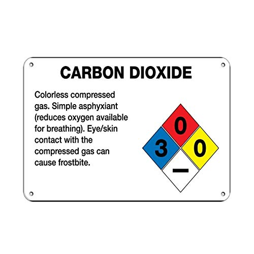 BIN SHANG Metal Aluminum Sign Carbon Dioxide Gas Simple Asphyxiant Cause Frostbite Plaque for Yard Garage Driveway House Fence