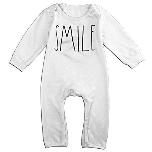 Boy & Girl Infants Smile Long Sleeve Climb Jumpsuit 24 Months White