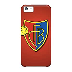 Iphone 5c Case Cover - Slim Fit Tpu Protector Shock Absorbent Case (fc Basel)