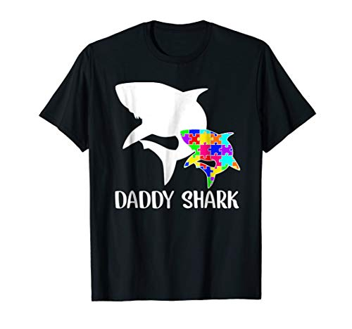 Daddy Shark Autism Awareness T-shirt For Dad Father