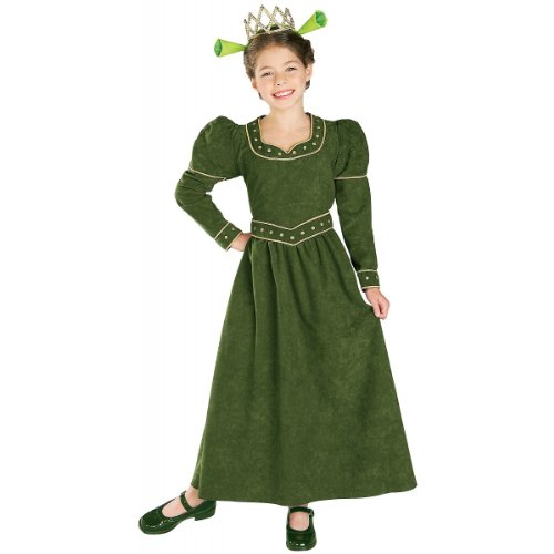 Child Large (Size 12-14, 8-10 Yrs) -DELUXE Princess Fiona Costume from (Fiona From Shrek Costume)