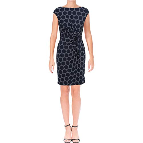 Lauren Ralph Lauren Womens Petites Sleeveless Mini Cocktail Dress Navy 6P