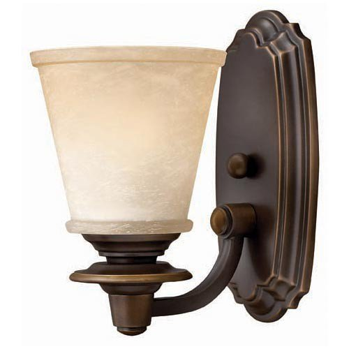 Hinkley 5470OB, Plymouth Reversible Glass Wall Sconce Lighting, 1 Light, 100 Total Watts, Bronze (Bath Plymouth Lighting)
