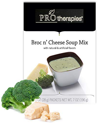 High Protein Soup - Low Carb Broccili and Cheddar Cheese Diet Soup Mix (15g Protein) - 7 Servings/Pack