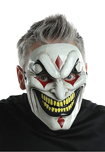 Men's Horror Evil Jester Injection Clown Mask Halloween Costume Accessory