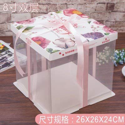 (Storage Boxes & Bins - 5pcs 6 8 Inch Birthday Cheese Cake Box Gift Snack Portable Boxes With Nets 10pcs - Gifts Boxes Hair Bulk Jewelry Briefs Boxer Shipping Wholesale Boxers)