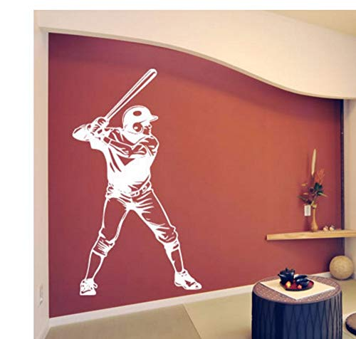 - guanguangllf Wall Sticker Baseball Famous Sports Boys Room Decoration Vinyl Art Wall Decor Removeable Poster Mural 57x100CM