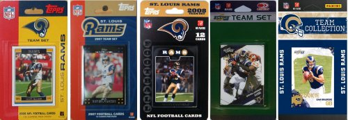 St Louis Rams Memorabilia (NFL Saint Louis Rams 5 Different Licensed Trading Card Team Sets)