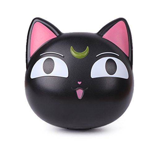 Bettal Cute Cat Shaped Contact Lens Case Travel Kit Mirror +Bottle + Tweezers Container Holder (Black)