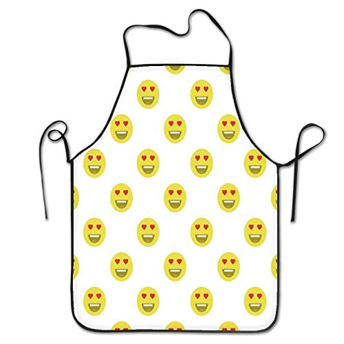 RoseFlowers Funny Women Chef Apron Cute Smiley Face Love Face Emoticons Emoji Flat Styles Stock Charming Long Kitchen Cooking BBQ Apron Bib - Smiley Face Aprons