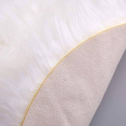 Rambling Soft Round Artificial Sheepskin Rug Chair Cover Artificial Wool Warm Hairy Carpet Seat for Bedroom,Livingroom,Indoor,Diameter:11.7''/15.6''/23.6'' by Rambling (Image #9)