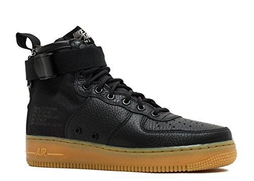 Gum Nike 1 Sneaker Hell Textil Leder Herren Braun Force Mid SF Schwarz Air Schwarz TPUpqST