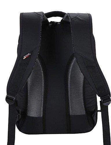 OIWAS Terylene Hombres y PVC 19L Mochila bolsa de ordenador portátil para 14 Inch Laptop , black Black