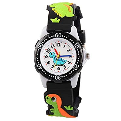 Kids Watch for Boys Girls, Toddler Watch Digital Analog Wrist Waterproof Watches with 3D Cute Cartoon Silicone Band, for…