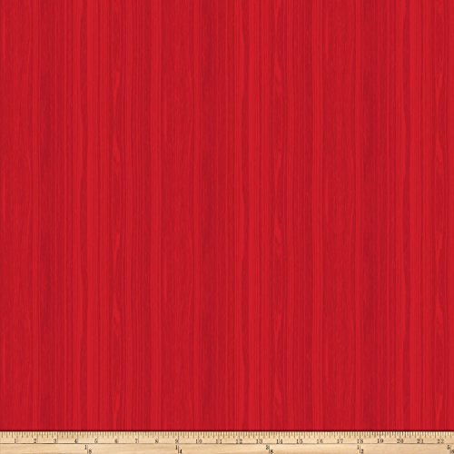 Northcott Swedish Christmas Stripes Fabric by the Yard, Red