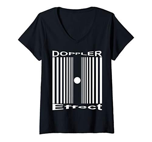 Sheldon Halloween Doppler Effect (Womens Sheldon Nerdy Doppler Effect Halloween Costume Science Gift V-Neck)