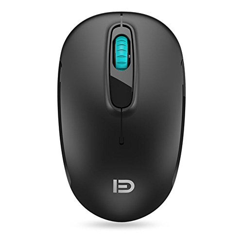 Wireless Mouse (Battery Included), FD M510c 2.4G Mini Silent Click Cordless Mouse, Optical Travel Mice with Nano USB Receiver for Desktop, Laptop, Computer, PC, Chromebook and Notebook (Black)