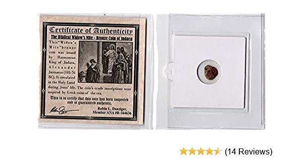 Widows Mite Ancient Coin NGC Certified Authentic Premium Grade Highest Quality!