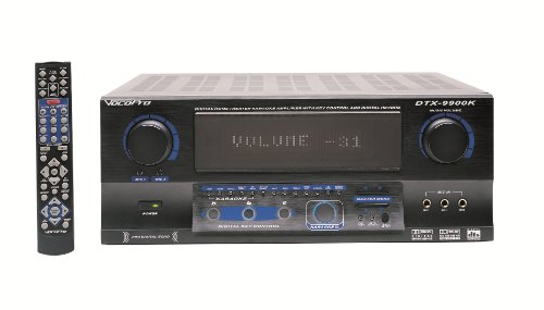 VocoPro DTX-9909 K 700W MAX 7.1 Surround Sound Receiver with Professional Karaoke DSP Processing ()