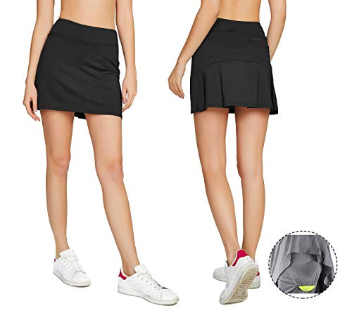 Cityoung Women's Casual Pleated Golf Skirt with Underneath Shorts Running Skorts XS (Junior Golf Shorts)