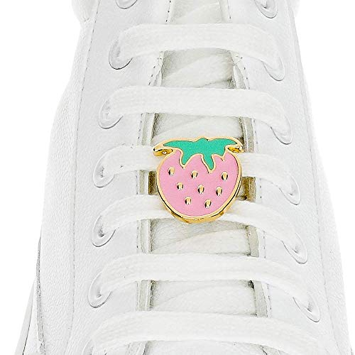 - Shoelace Customization - Strawberry Shoelace Charm - trainer tag for Nike, Adidas, Converse, Puma, Vans sneakers - Inspirational Gift - Fashion Accessory Gift - shoelace charms for runners